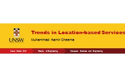 Trends in Location-based Services PowerPoint PPT Presentation