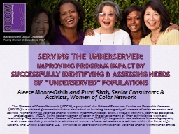 Serving the Underserved: