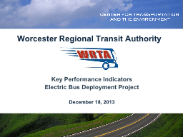 Worcester Regional Transit Authority PowerPoint PPT Presentation