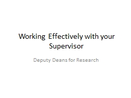 Working Effectively with your Supervisor PowerPoint PPT Presentation