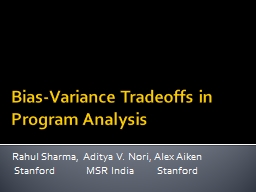 Bias-Variance Tradeoffs in
