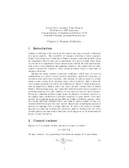 Lecture Notes on Monte Carlo Methods Fall Semester  half done Courant Institute of Mathematical Sciences NYU Jonathan Goodman goodmancims