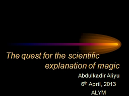 The quest for the scientific             explanation of m