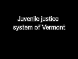 Juvenile justice system of Vermont