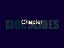 Chapter #5