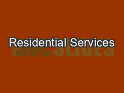 Residential Services PDF document - DocSlides