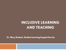 Inclusive learning and teaching PowerPoint PPT Presentation
