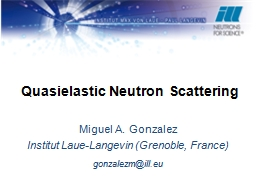 Quasielastic Neutron Scattering PowerPoint PPT Presentation
