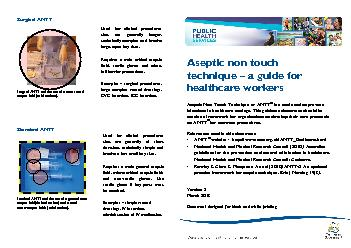 Aseptic non touch technique a guide for healthcare workersAseptic Non PDF document - DocSlides