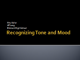 Recognizing Tone and Mood