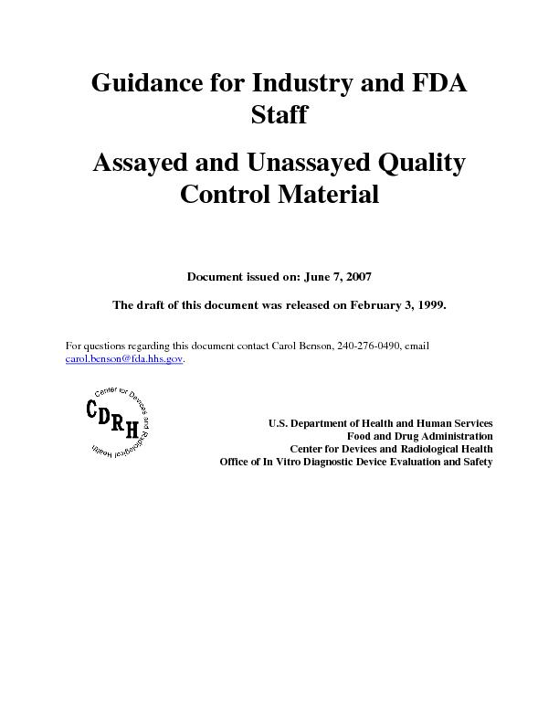 The draft of this document was released on February 3, 1999. For quest