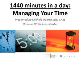 1440 minutes in a day: Managing Your Time