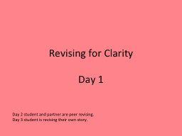 Revising for Clarity