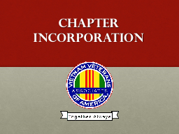 Chapter Incorporation