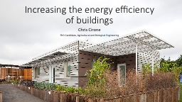 Increasing the energy efficiency of buildings PowerPoint PPT Presentation