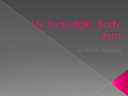 My Incredible Body App PowerPoint PPT Presentation