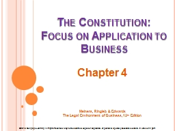 The Constitution: PowerPoint PPT Presentation