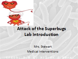 Attack of the Superbugs PowerPoint PPT Presentation