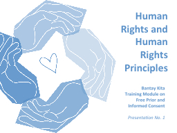 Human Rights and Human Rights Principles