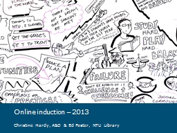 Online induction – 2013