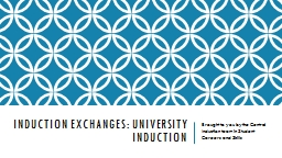 Induction Exchanges: PowerPoint PPT Presentation