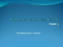 Induction and recursion PowerPoint PPT Presentation