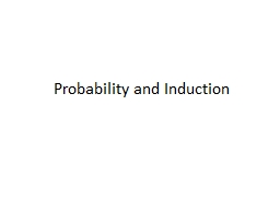 Probability and Induction