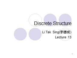 Discrete Structure PowerPoint PPT Presentation