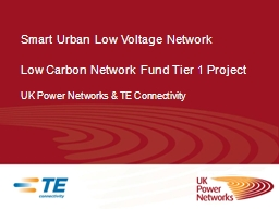 Smart Urban Low Voltage PowerPoint PPT Presentation