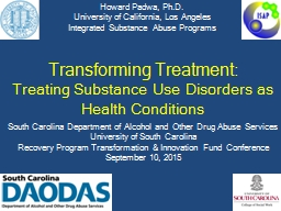 Transforming Treatment: PowerPoint PPT Presentation