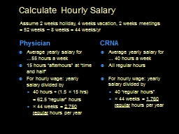 Calculate Hourly Salary PowerPoint PPT Presentation