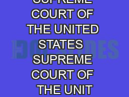 SUPREME COURT OF THE UNITED STATES  SUPREME COURT OF THE UNIT