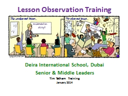 Lesson Observation Training
