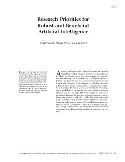 Research priorities for robust and benecial articial intelligence January   Executive Summary Success in the quest for articial intelligence has the potential to bring unprecedented benets to humanit