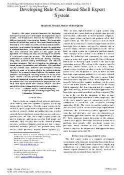 Abstract this paper presents framework for developing shell expert system as new environment development for expert systems