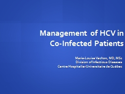 Management of HCV in Co-Infected Patients