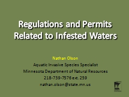 Regulations and Permits