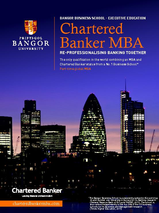 The only qualication in the world combining an MBA and Chartered Bank
