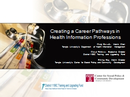 Creating a Career Pathways in Health Information Profession