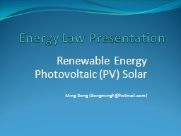 Energy Law Presentation PowerPoint PPT Presentation
