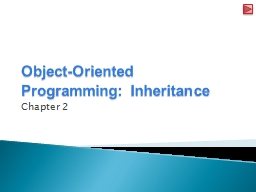 Object-Oriented Programming: