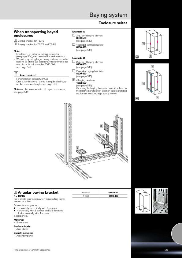Enclosure suitesBaying systemRittal Catalogue 34/System accessories ..