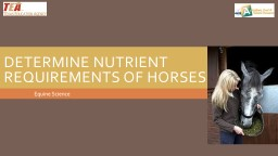 Identify Animal Welfare Policies in Equine PowerPoint PPT Presentation