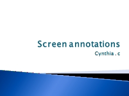 Screen annotations