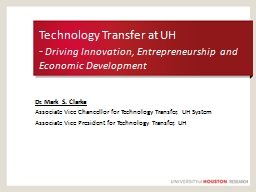 Technology Transfer at UH