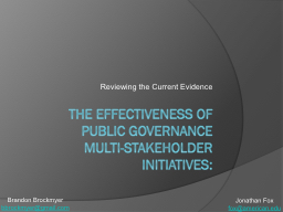 The Effectiveness of