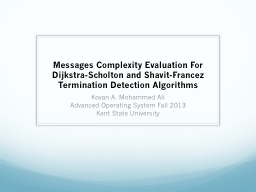 Messages Complexity Evaluation For