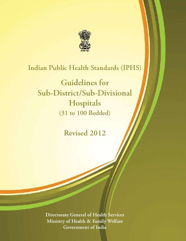 Indian Public Health Standards (IPHS)