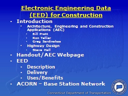 Electronic Engineering Data (EED) for Construction