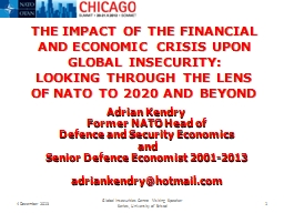 THE IMPACT OF THE FINANCIAL AND ECONOMIC CRISIS UPON GLOBAL
